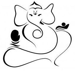 Ganesh Line Drawing